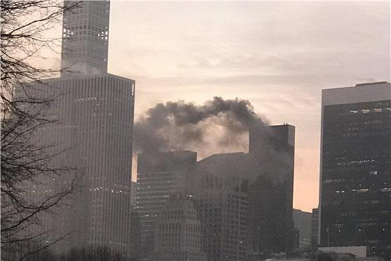 Brand auf Dach des Trump Tower in New York