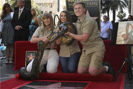 "Hollywood-Stern für ""Crocodile Hunter"" Steve Irwin"