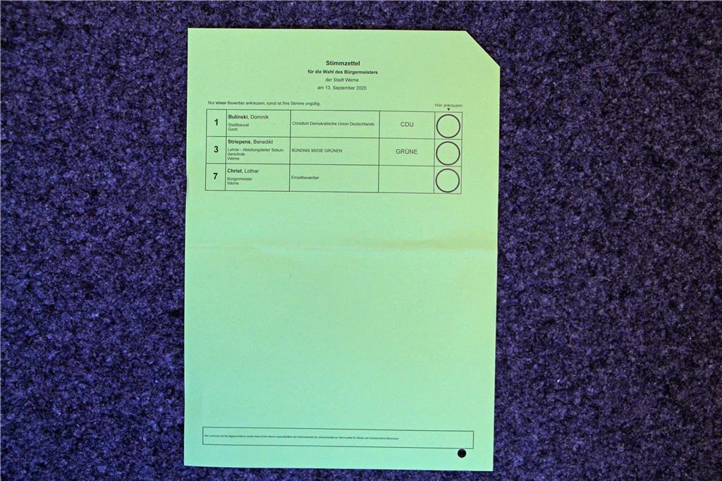 Stimmzettel Kommunalwahl Mv