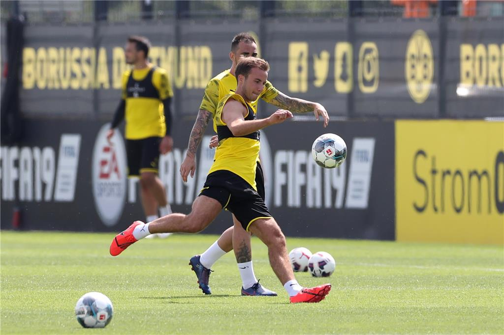 BVB-Duo trainiert individuell - Interner Test in Brackel